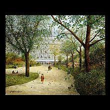 MAURICE GHIELION - Green Paris Square De La Tour St. Oil