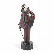 Roland Paris, Cold Painted  Bronze of Pierrot
