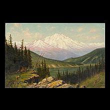 James E Stuart Oil on Canvas, American Art
