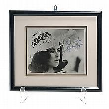 Framed Autographed Photograph of Elizabeth Taylor