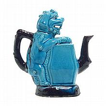 A Turquoise-Glazed Porcelain Wine Pot