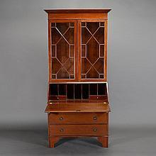 George III Style Secretary Bookcase