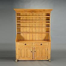 English Provincial Pine Welsh Dresser, 19th Century