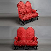 Pair of Queen Anne Style Sofas