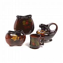 Four Pieces of Weller Standard Glaze Pottery
