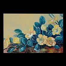 J. LLAINE COLQUHAUN Floral watercolor