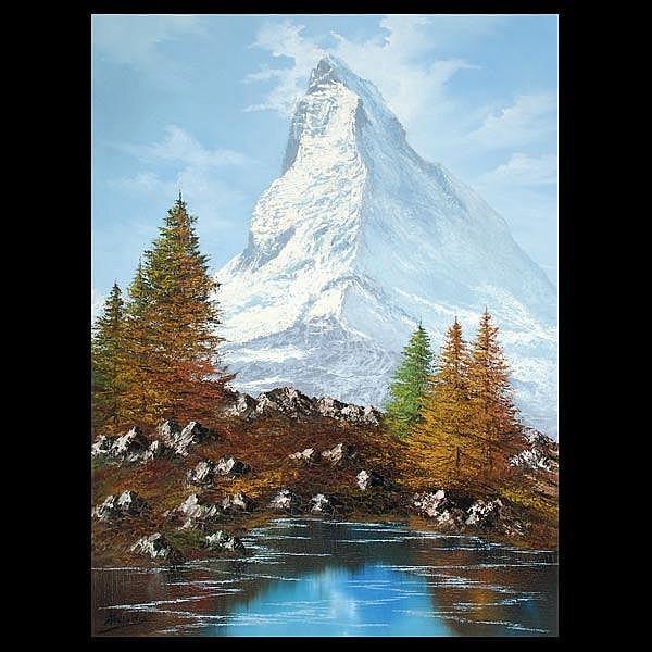 Kodeda ,Matterhorn framed oil