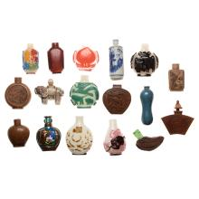 A Collection of Seventeen Snuff Bottles