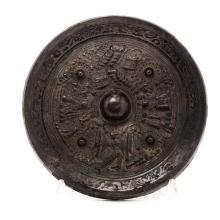 A Bronze Circular Figural Mirror, Han Dynasty