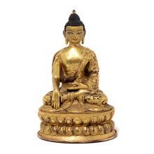 A Gilt-Bronze Figure of Buddha, 17th Century