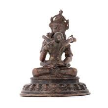 A Bronze Figure of Vajrasattva, 19th Century