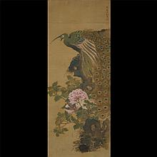 In the Style of Shen Quan (1682-1760): Peacock and Peony