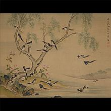 Manner of Shen Quan (1682-1760): Magpies