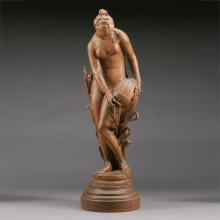 Mario Arthur, French Patinated Terracotta Figure of Nymph