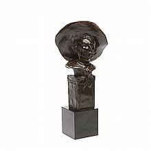 Roman Bronze Remington Bust: