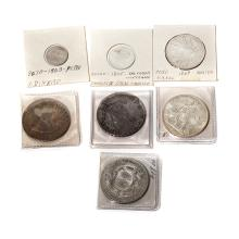Lot of 7 Latin America Silver Coins