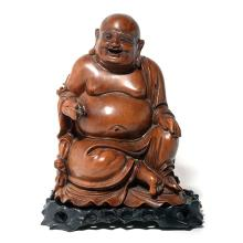 A Wood figure of Budai, 19th Century