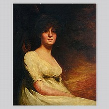 Portrait of a Lady in White Attributed to RAEBURN