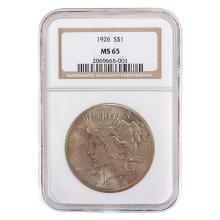 US 1926 Peace Dollar, NGC MS.