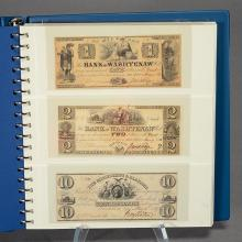 Early American States Bank Notes and Paper Money (50).