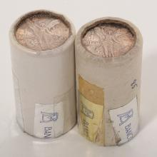 Lot of Two Rolls of Mexican 1985 Silver Coins.