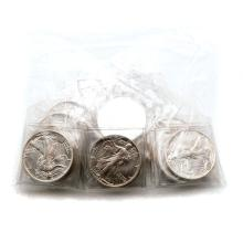 US 1988 $1.00 Silver Eagle (20) & 1988 Canadian Coins (10).