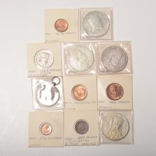 Lot of 10 Silver & Copper Ethiopian Coins & Medals.