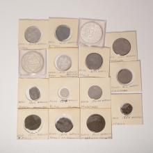 Lot of 15 Silver & Copper Moroccan Coins.