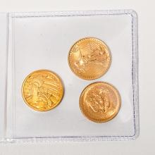 Lot of 3 Gold Coins.