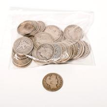Lot of 48 US Liberty Head Half Dollars.