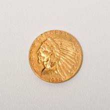 US 1928 $2.50 Gold Indian Head, VF-XF Condition.
