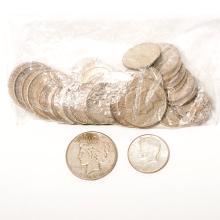 US Lot of Silver Dollars & Half Dollars.