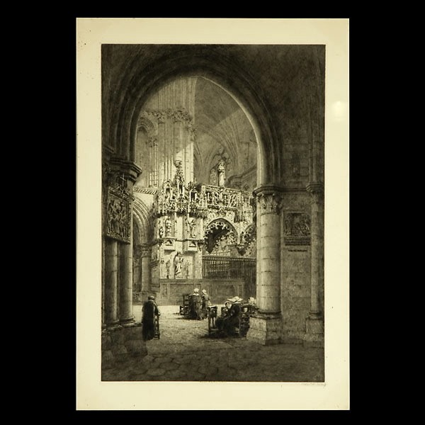 Axel Haig, British Art Etching Church Interior 1904