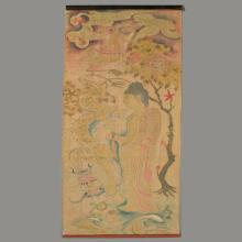 An Asian Buddhist Silk Scroll