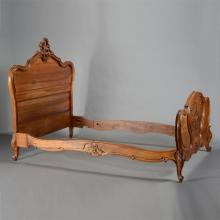 Louis XV Style Walnut Queen Sized Bed