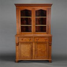 Country Sycamore Cupboard with Glass Doors