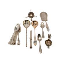 Collection of 19th Century Norwegian 830 Silver Serving Pieces