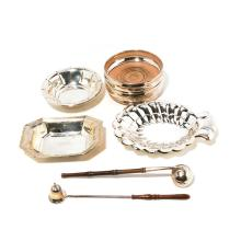 Collection of Sterling Dishes and Candle Snuffers