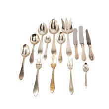 Set of Porter Blanchard Sterling Silver Flatware