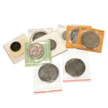 Lot of Nine Coins.