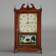 Seth Thomas Pillar and Scroll Shelf Clock with Chinoiserie Eglomise Panel