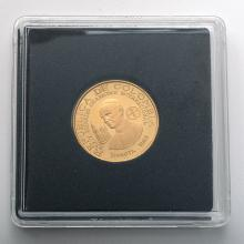 Columbia 1968 Gold 100 Pesos Coin Proof.