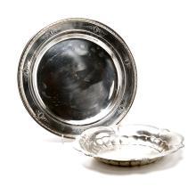 Reed & Barton Sagamore Sterling Silver Platter and Gorham Bowl