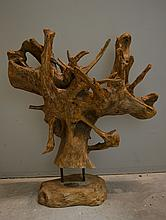 Driftwood root sculpture