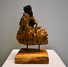 Teak wood nature sculpture