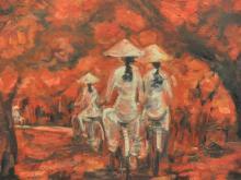 Original artwork by Quan Tho, a Vietnamese Contemporary Artist