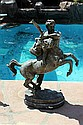 Large Bronze Sculpture-Fighter by Bayre