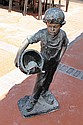 Large Bronze Sculpture-Boy with turtle by Soto