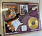 Bob Marley Signed Guitar with Bio, Photo and Album.