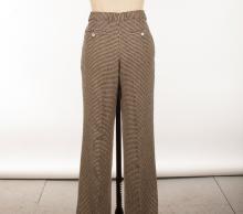 Yves Saint Laurent Rive Gauche Paris Mens 100% Silk Suit, Black & Bone Houndstooth. Made in Italy.